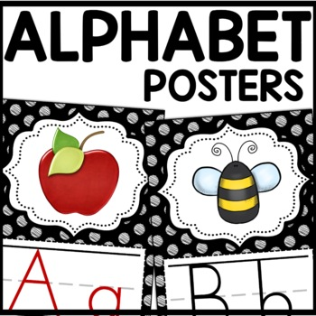 Alphabet Posters MIX AND MATCH (Black Scribble)