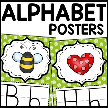 Alphabet Posters MIX AND MATCH (LIME Scribble)