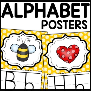 Alphabet Posters MIX AND MATCH (MUSTARD Polka Dot Scribble)