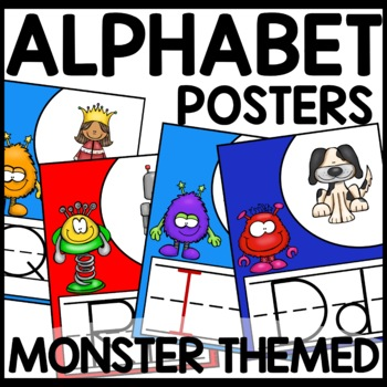 Alphabet Posters | MONSTER THEMED
