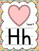 Manuscript Alphabet Posters for Classroom Decor (Tropical Herringbone)