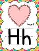 Manuscript Alphabet Posters for Classroom Decor (Tropical Hexagons)