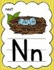Manuscript Alphabet Posters for Classroom Decor (Gray & Yellow)