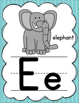 Manuscript Alphabet Posters for Classroom Decor (Rainbow)