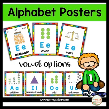 Alphabet Posters:  Math Full-Page