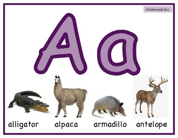 Alphabet Posters/Mats, Reggio, 2 of each Upper and lower case