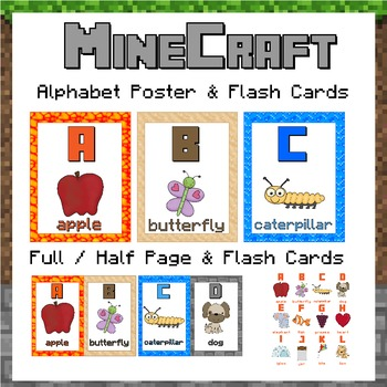 Alphabet Posters - Minecraft themed!