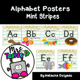 Alphabet Posters (Mint Striped)