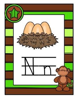 Alphabet Posters - Monkey Theme