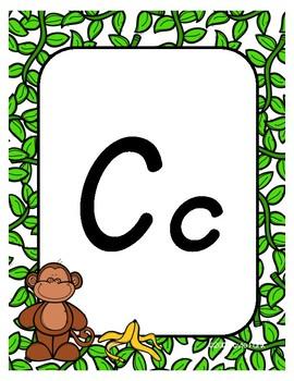 #roomdecor Alphabet Posters - Monkeys - Primary Italics