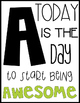 Alphabet Posters | Motivational Quote Style | Black, White & Bright