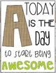 Alphabet Posters | Motivational Quotes | Burlap, White & Bright w/ Shiplap Trim
