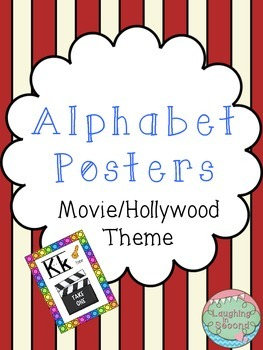 Movie/Hollywood Themed Alphabet Posters