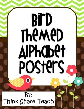 Alphabet Posters (Multi-Colored Bird Theme)