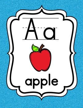 Alphabet Posters {Multi Glitter}