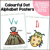 Alphabet Posters - NSW Foundation, QLD Beginners, VIC Modern Cursive, Print Font