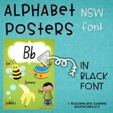Alphabet Posters- NSW Foundation Font (BLACK font)