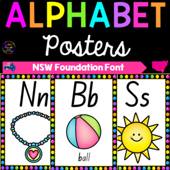 Alphabet Posters - NSW Foundation Print Font