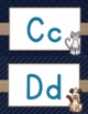 Alphabet Posters {Navy, Burlap, Turquoise Decor}