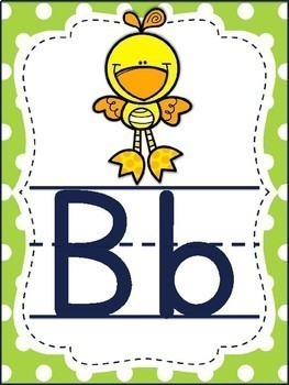 Alphabet Posters Navy and Lime with ABC Animals
