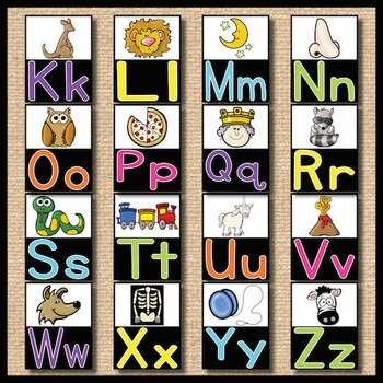 Alphabet Posters: Neon & Black