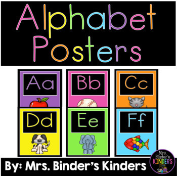 Alphabet Posters - Bright Colors