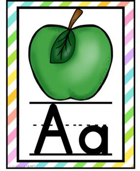 Alphabet Printable Posters- Neon