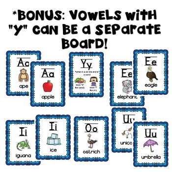 Alphabet Posters! Neon with Matching Headers for Word Wall & Vowels!