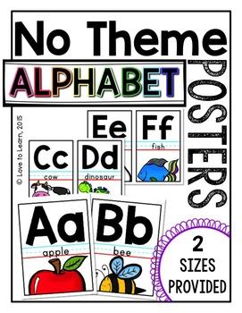 Alphabet Posters - No Theme