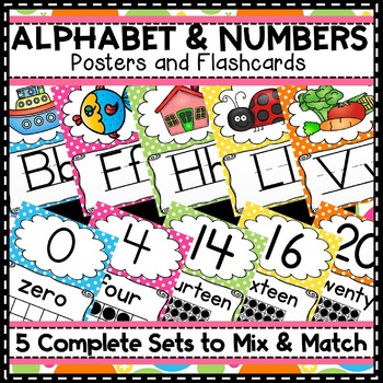 Alphabet Posters Number Poster Lines