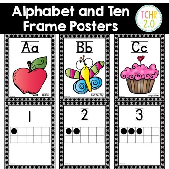 Alphabet Posters Ten Frame Posters