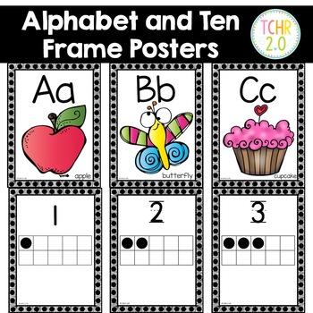 Alphabet Ten Frame Posters
