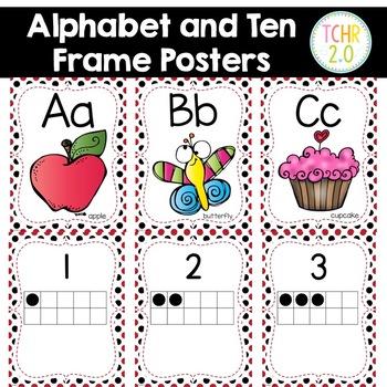 Ladybug Alphabet Ten Frame Posters