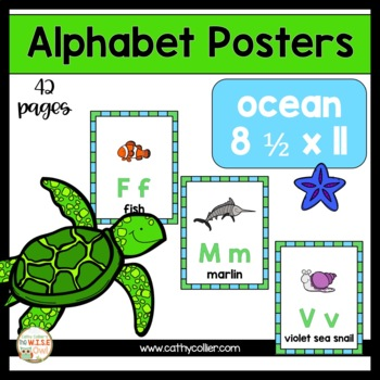 Alphabet Posters:  Ocean Full-Page