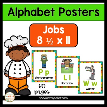 Alphabet Posters:  Jobs Full-Page