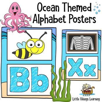 Alphabet Posters Ocean Theme