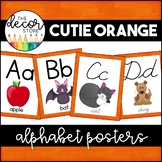 Alphabet Posters: Orange   Classroom Decor