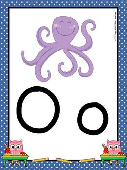 Alphabet Posters:  Owl Theme