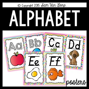 Alphabet Posters {Pattern Theme}