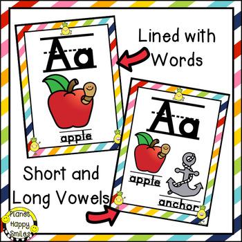 Alphabet Posters, Pineapple & Bright Rainbow