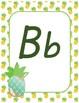 #roomdecor Alphabet Posters - Pineapples - Italics