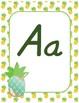 Classroom Decor Alphabet Posters - Pineapples - Italics