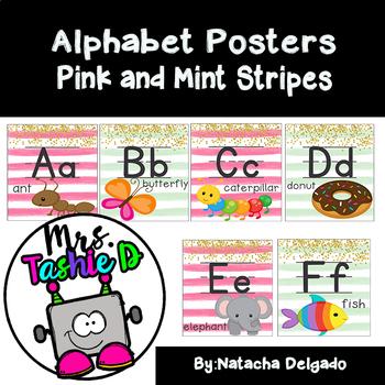 Alphabet Posters (Pink & Mint Bundle)