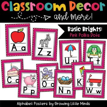 Alphabet Posters- Pink Polka Dots