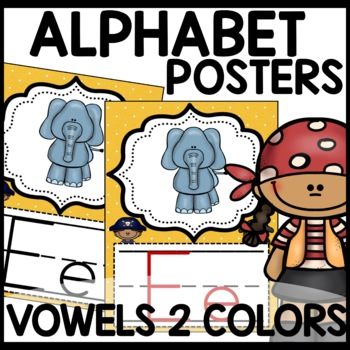 Pirate Themed Alphabet Posters