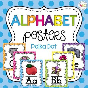 Alphabet Posters - Polka Dot