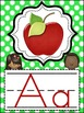 Polka Dot Print Alphabet Posters (Colors orange, turquoise, red, lime green)