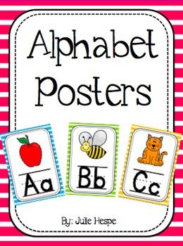 Alphabet Posters - Stripes