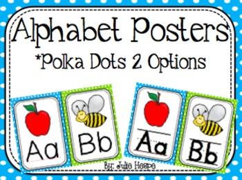 Alphabet Posters - Polka Dots