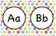 Alphabet Posters Polka Dots